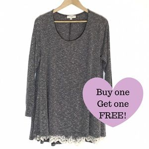 UMGEE Lace Layered Sweater.   D016